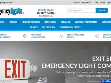 Lighting products website in Big commerce