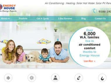 Air condition and Solar power services website