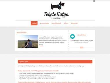 Feketekutya Dog Grooming Service Website
