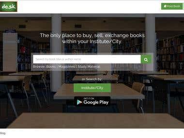 StudentDesk.in Book Exchange platform.