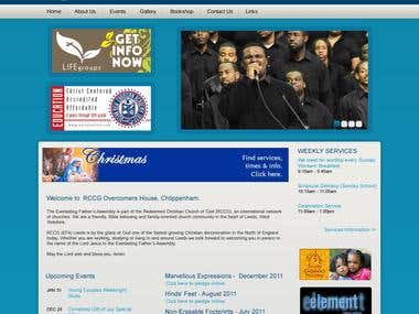 church website in wordpress