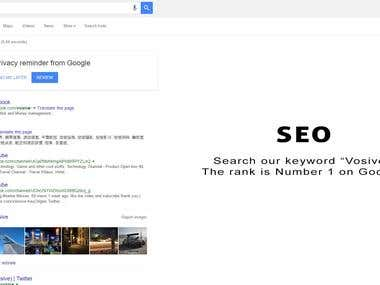 SEO - Rank high on Google