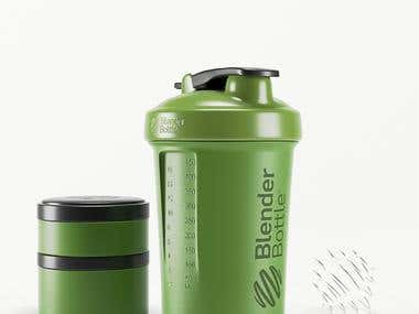 Blender Bottle 3D Model