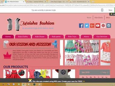 Web design by wix