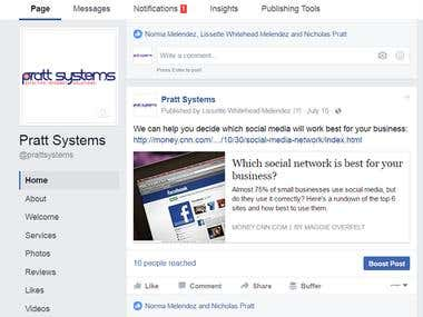 Pratt Systems Facebook Post