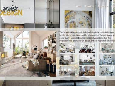 web site design of a local interior design company