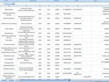 Data Procesing, Excel, Data Entry