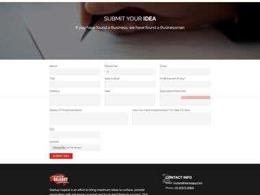 Startup Gujarat Website
