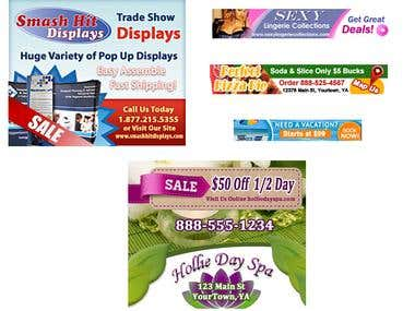 Online Banner Displays Ads