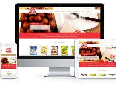 Custom HTML /CSS website