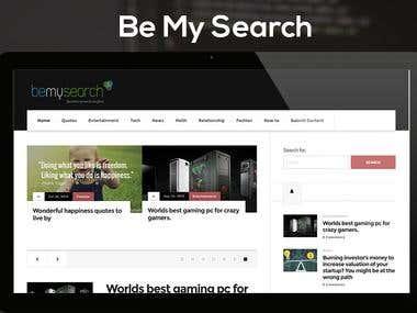 BeMySeach - Lifestyle- News website