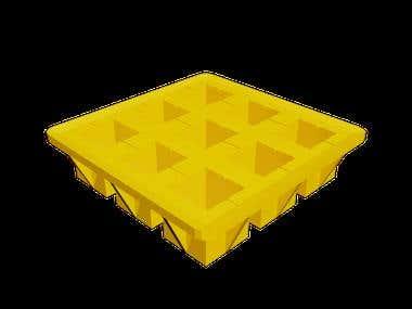 3x3 Ice cube mold