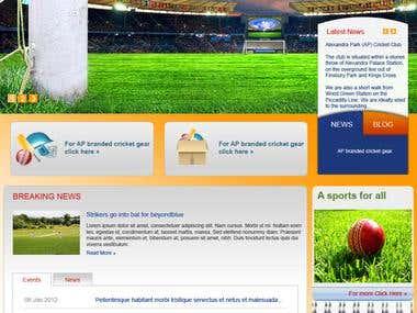 Cricket website in london