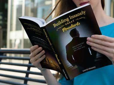 Book cover design + MOCKUP