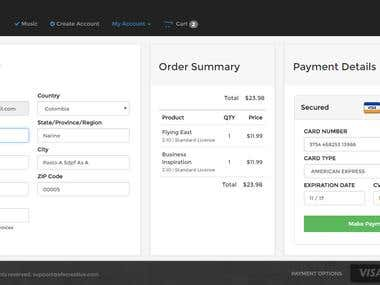 Complete Shopping Cart & Payment Gateway Implementation