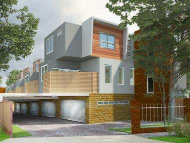 Residential House Rendering Project