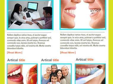 HTML Newsletter Email