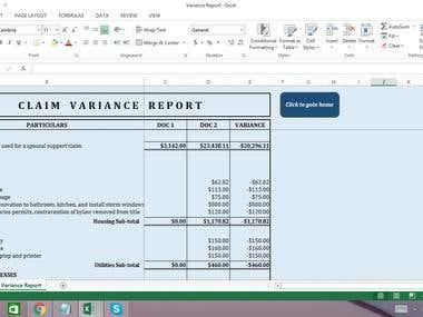 Claim Variance Report