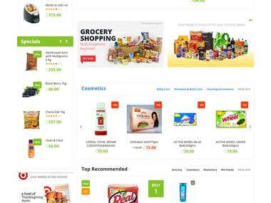Ecommerce  Grocery Store