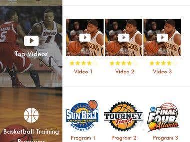 Amateur Basketball iOS App