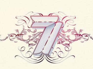 7th Anniversary Lettering