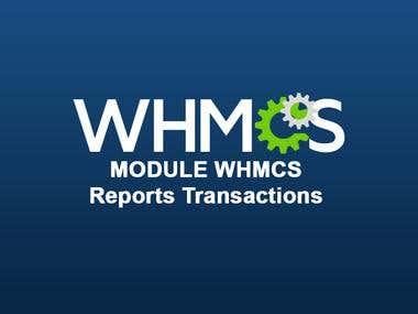 WHMCS - Custom Report - Transaction Detail Report