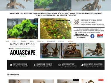 Aquarium Plants Ecommerce Site