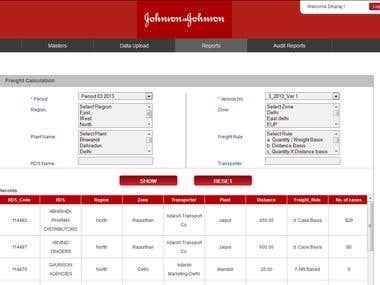 Johnson & Johnson : Freight Cost Management
