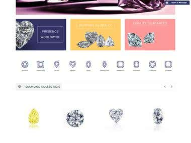 Online sell eCommerce  Diamond Website