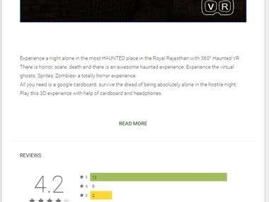 Virtual Reality for Bhangarh -Haunted Experience