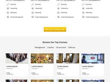E-learning web site design