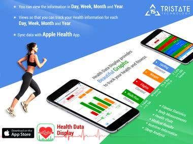 Health Data Display - iPhone App