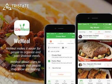 WeMeal - Social Networking App