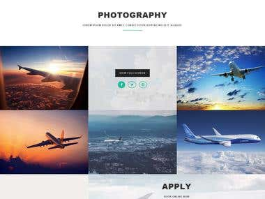 Aviation Landing Page
