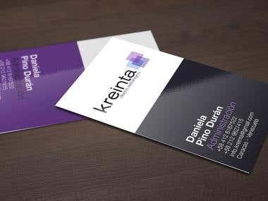 Kreinta business cards