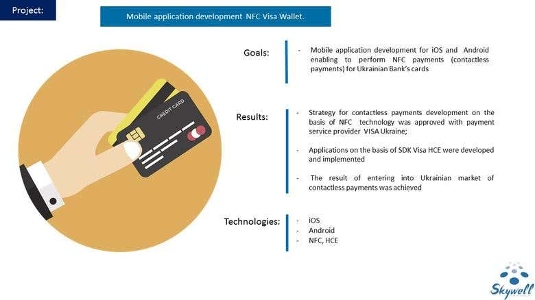 Mobile application d NFC Visa Vallet | Freelancer