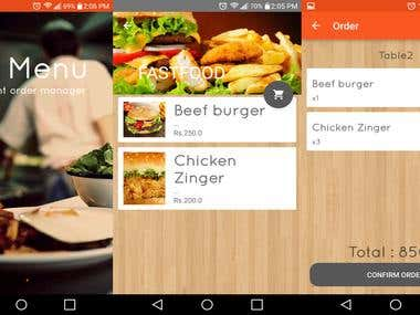 Restaurant Order Mang. App