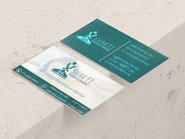 Cartão de visita Shakti Massagem Corporal