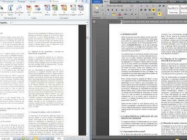 Conversion PDF to DOC