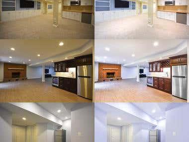 Real Estate photo editing.