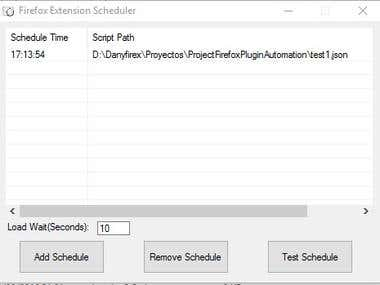 Firefox Extension Scheduler