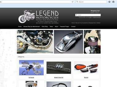 Opencart -www.legendmotorcycles.com