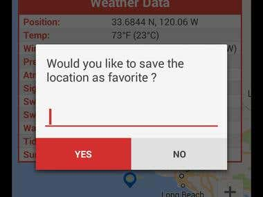 Android app World Weather Marine Buoys