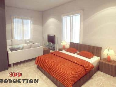 Bedroom Interior Render