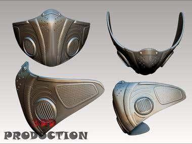 Mask 3d print model