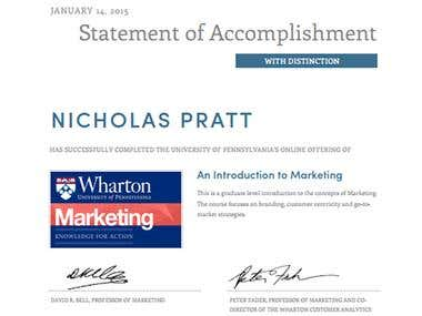 Wharton Business School: Introduction to Marketing