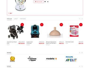 Happykids world an Ecommerce website built on opencart
