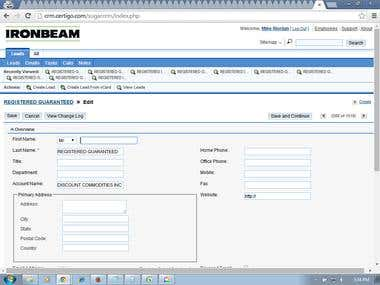 Contact Detail Into CRM