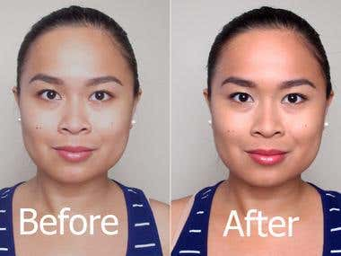 photo retouching (before/after)