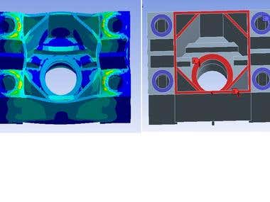 Optimization of injection moulding  machine components